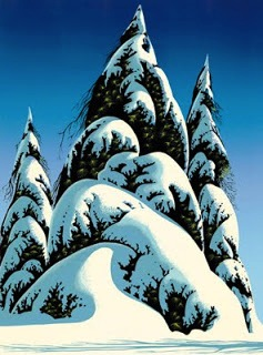 Eyvind Earle christmas card