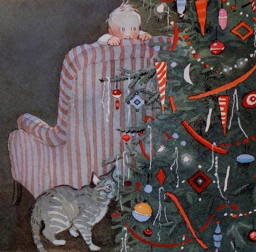 Night Before Christmas Hobbie cat