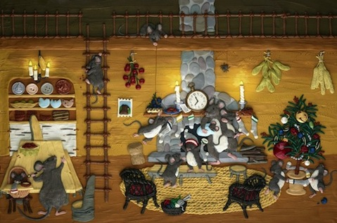 Night Before Christmas Reid detail
