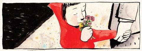 Sidewalk Flowers little girl