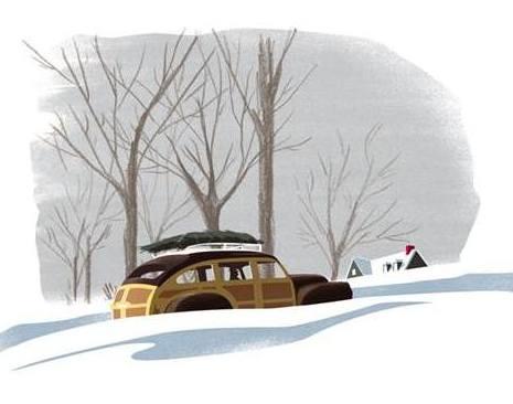 Marguerite's Christmas landscape